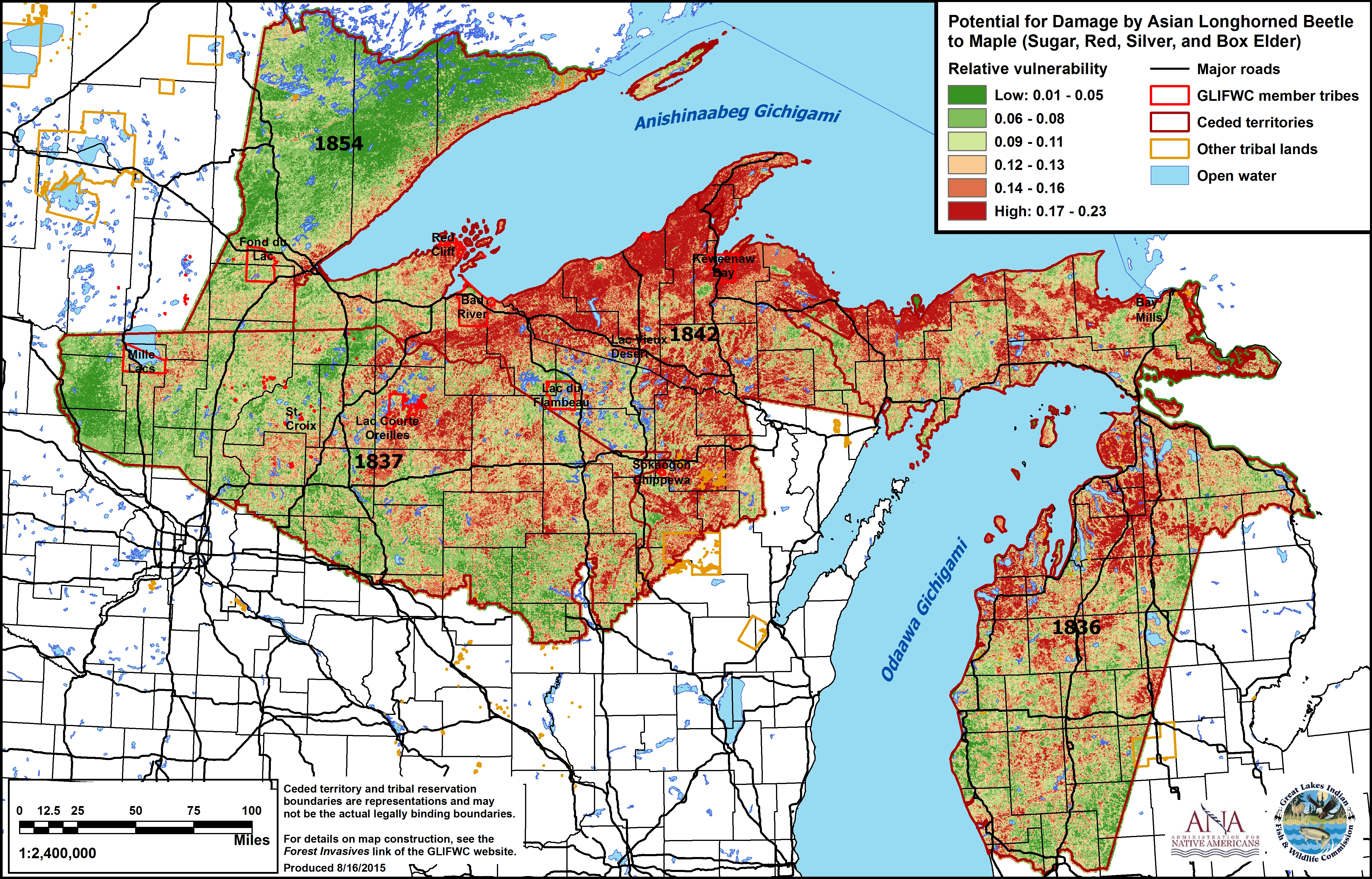 Forest Pests - Map of asian longhorned beetle us